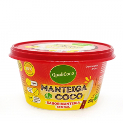 MANTEIGA DE COCO SABOR MANTEIGA S/SAL QUALICOCO 200G