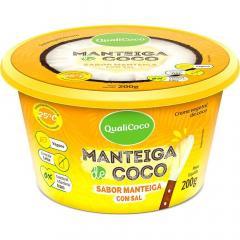 MANTEIGA DE COCO SABOR MANTEIGA C/SAL QUALICOCO 200G