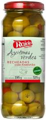 AZEITONAS VERDES COM PIMENTÃO CONSERVA RAIOLA 325GR